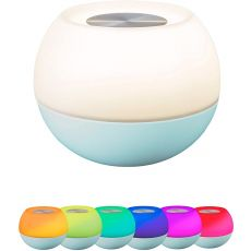 Enbrighten USB-Powered Color-Changing Tabletop LED Mini Bowl Night Light, Light Teal