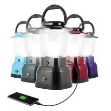 Enbrighten LED 6D USB-Charging Lantern, Black