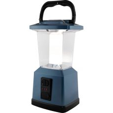 Enbrighten Lux Hybrid Dual Power Color-Select Dimmable LED Lantern with USB Charging, Blue