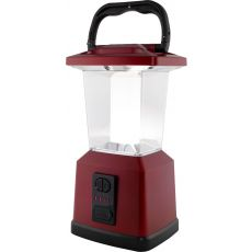 Enbrighten Lux Hybrid Dual Power Color-Select Dimmable LED Lantern with USB Charging, Red