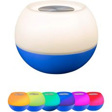Enbrighten USB-Powered Color-Changing Tabletop LED Mini Bowl Night Light, Cobalt Blue