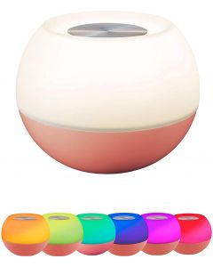 Enbrighten USB-Powered Color-Changing Tabletop LED Mini Bowl Night Light, Coral